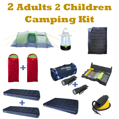 2 Adults & 2 Children Camping Kit